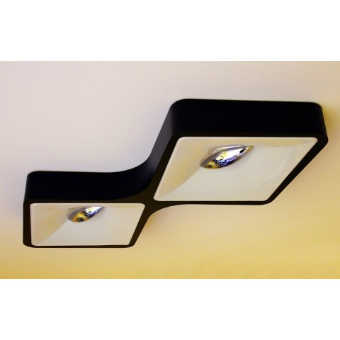 CZARNA PLAFONIERA LAMPA PUZZLE 23x23 OZCAN 5656-1 PLAFON POWER LED 18W