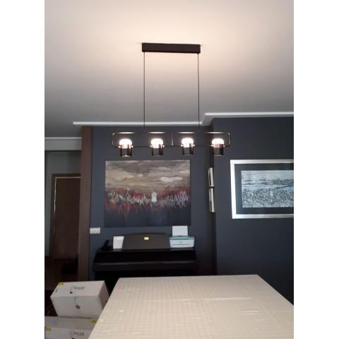Szklana lampa wisząca- plafon ozcan salon, jadalnia, kuchnia 4023-3 3x 40w lampa