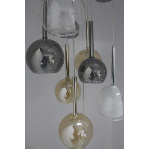 Szklana lampa wisząca- plafon ozcan salon, jadalnia, kuchnia 4023-5y 5x 5x 40w lampa