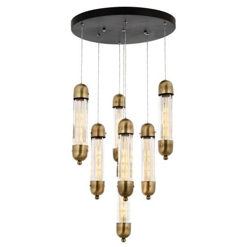 Nowoczesna złota lampa sufitowa plafon  led 144w  ozcan salon sypialnia jadalnia 5642-2lampa lampa