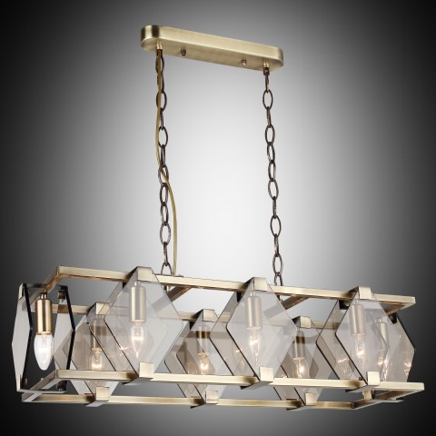 Lampa led plafon ledowy ozcan 5636-3 srebro chrom salon kuchnia łazienka
