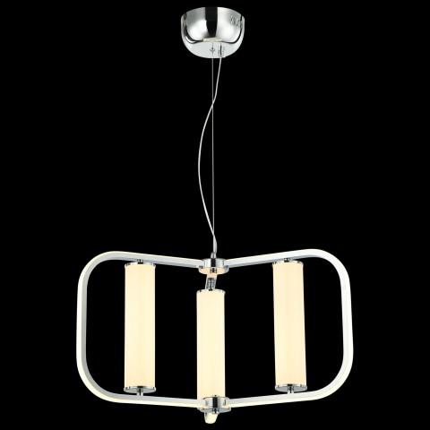 Mapa biała metalowa lampa wisząca 30cm ozcan 6322-1 biały zwis 1x40w kula