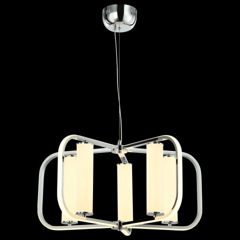 Mapa biała metalowa lampa wisząca 40cm ozcan 6322-2 biały zwis 1x40w kula