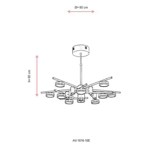 Ledowy kinkiet ozcan 2108-2 lampa na diody power led 2x3w włącznik do czytania przy łóżku