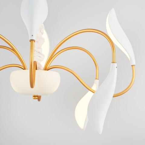 Ledowa lampa wisząca ozcan 5604-1a chrom diody led 1x5w