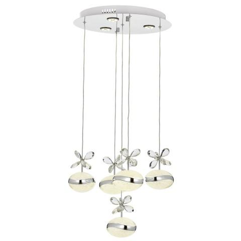 Szara lampa wisząca ozcan 5349 szary żyrandol 3xe27