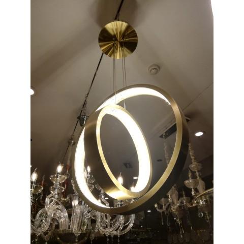 Złota lampa sufitowa 1521or kryształowe oczko gumarcris oprawa podtynkowa salon hol łazienka hotel