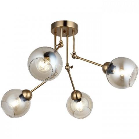 ZŁOTA  LAMPA SUFITOWA 1678OR KRYSZTAŁOWE OCZKO GUMARCRIS OPRAWA NATYNKOWA  SALON HOL ŁAZIENKA HOTEL