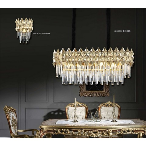 Srebrna lampa sufitowa 2110cr kryształowe oczko gumarcris oprawa natynkowa salon hol łazienka hotel