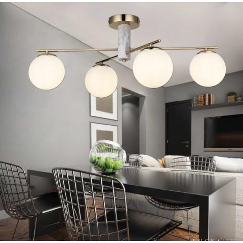 Srebrna lampa sufitowa 2810cr szklane oczko gumarcris oprawa podtynkowa salon hol łazienka hotel