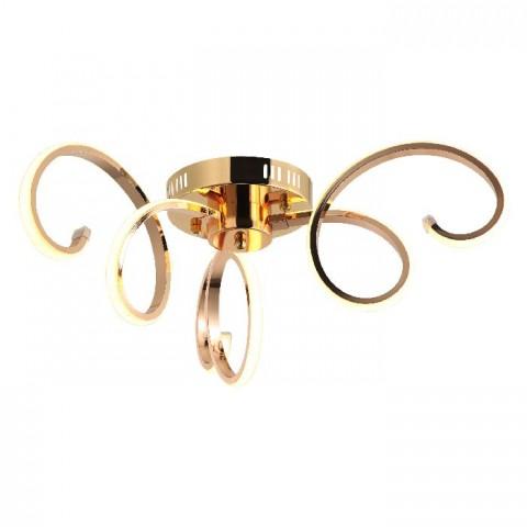 Nowoczesna miedziana lampa żyrandol  led 40w  avonni av-1574-c40  salon sypialnia jadalnia