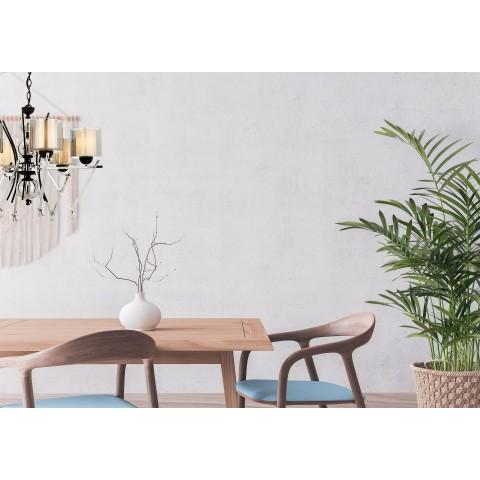 Nowoczesna srebrna lampa stolikowa lucea lavonder 51838-06-t01-cr salon sypialnia jadalnia lampa