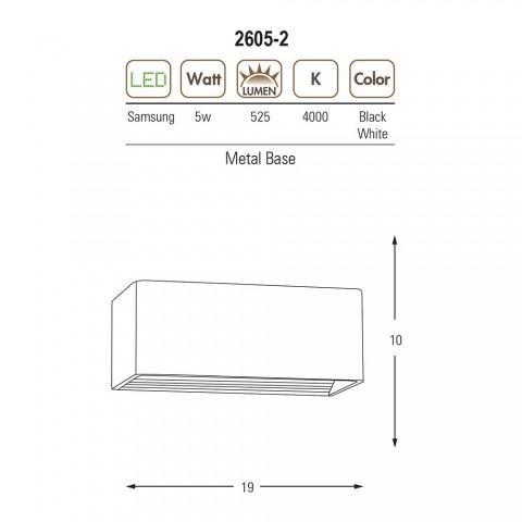 4200k patyna ozcan ledowy kinkiet lampa led 100cm 5129-4 zimna barwa światła diody led