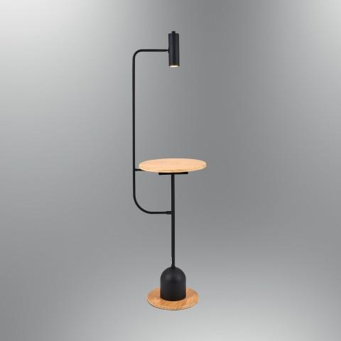 Lampa podłogowa drewniana - Lampy podłogowe drewniane