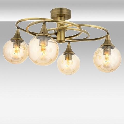 Lampy sufitowe mosiężne - Lampa sufitowa mosiężna